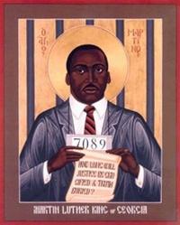 Icona in stile bizantino di Martin Luther King Jr - in vendita su www.sojo.net