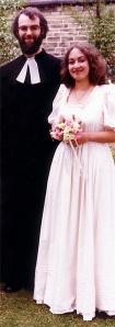 Rowan Williams il giorno delle nozze con Jane.
