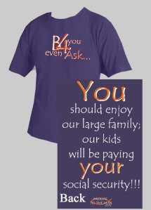 T-Shirt militante trovata su Catholicposters.com